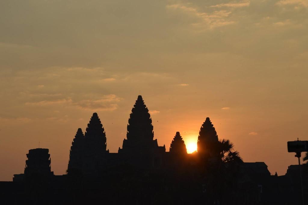 Fahrrad angkor wat tempel rad