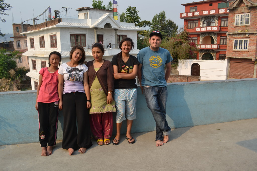 Manuel und die ganze Familie in kathmandu