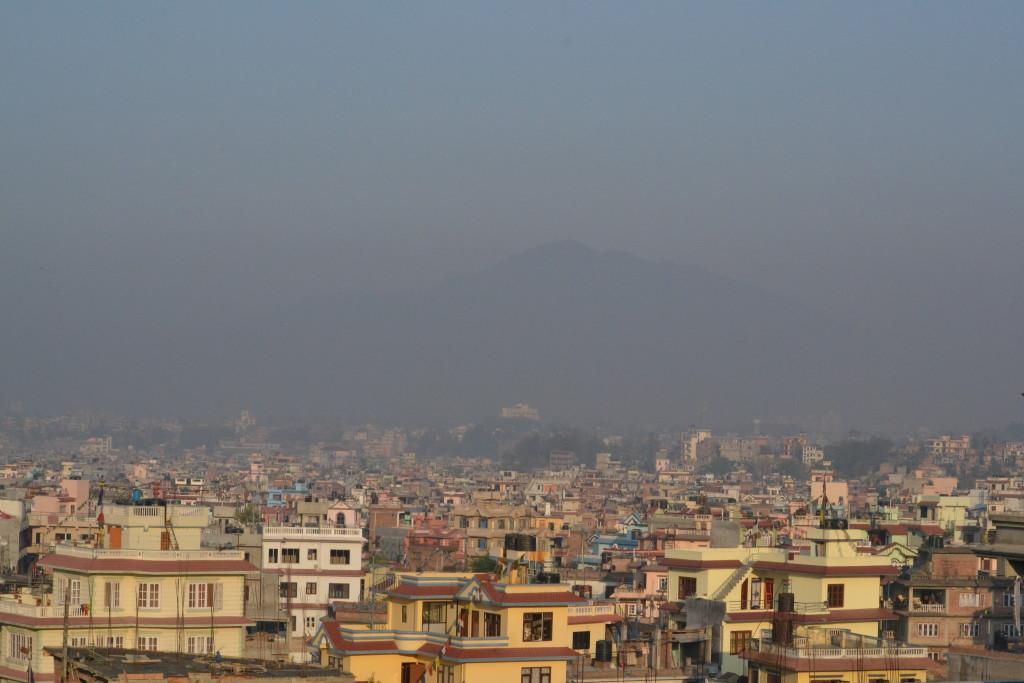 Ausblick von Thams haus auf kathmandu