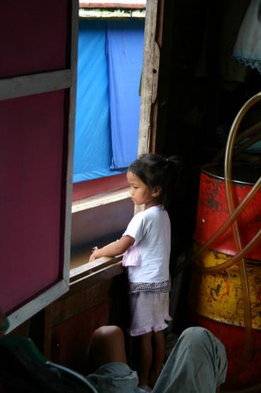 Auf dem Mekong mit Boot durch Laos