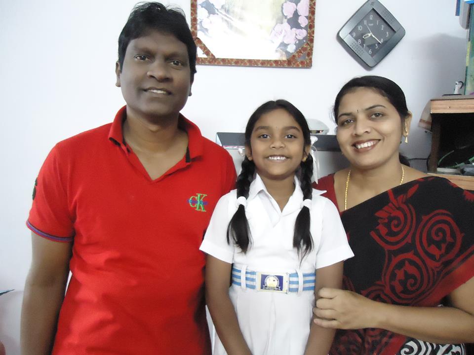 Raja mit Familie