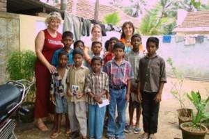Indien Waisenkinder Inge und Christine
