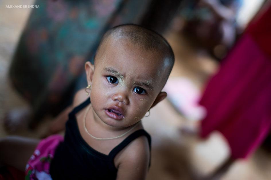 Burmesisches Flüchtlingsheim kinder