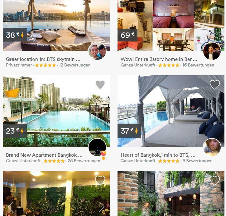bangkok airbnb homepage
