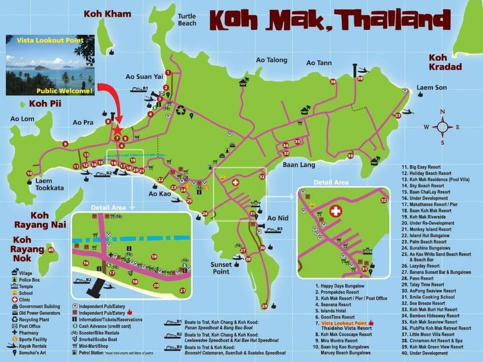 Thailand Inseln Karte.Koh Mak Ein Noch Verstecktes Inselparadies Im Golf Von Thailand