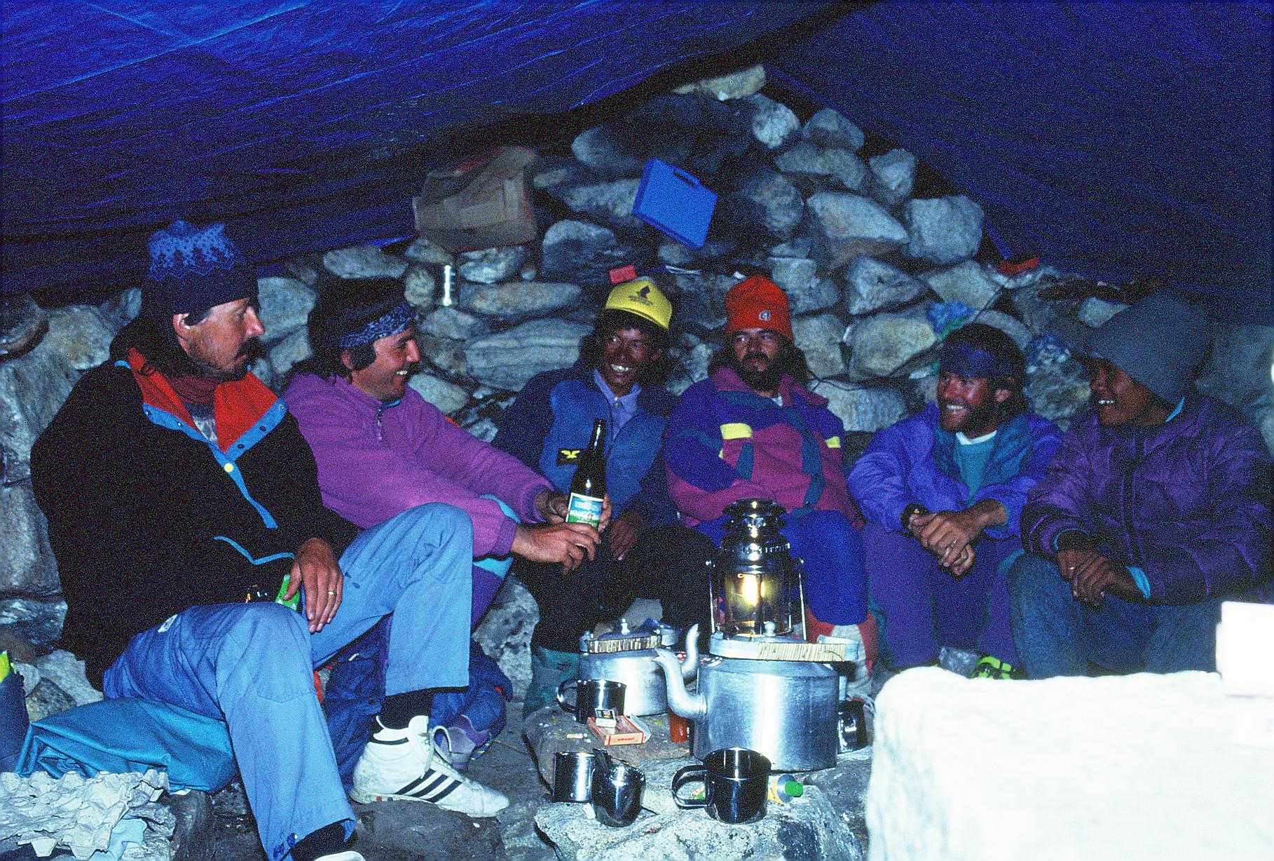 manaslu berg nepal camp