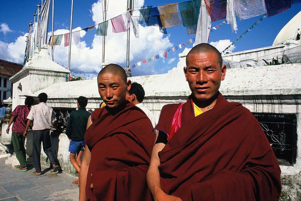 Mönche-Nepal-alte-Fotos