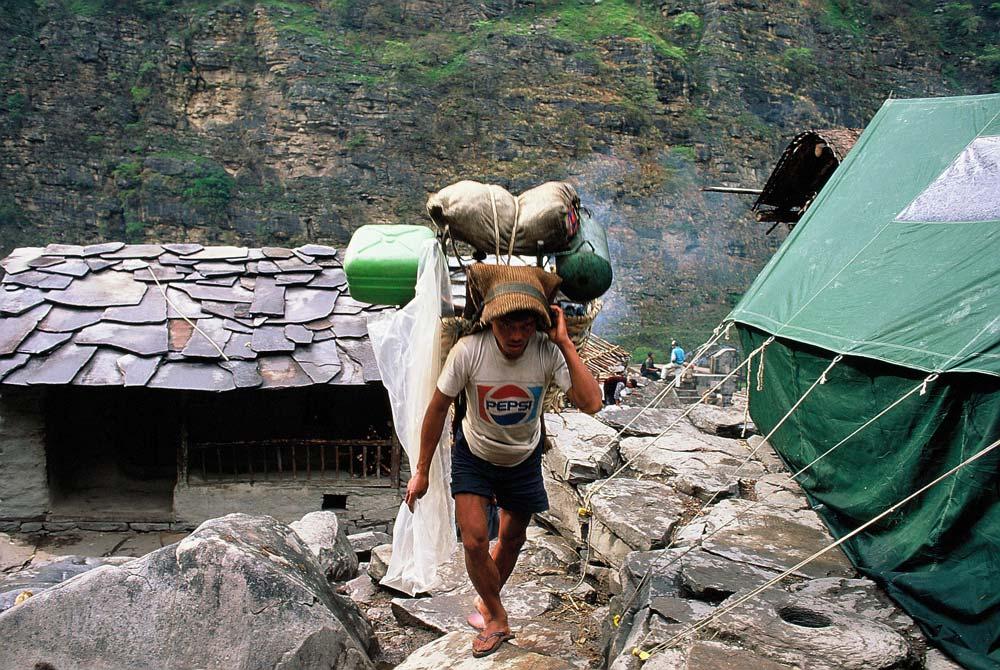 Nepal-träger-alte-fotos