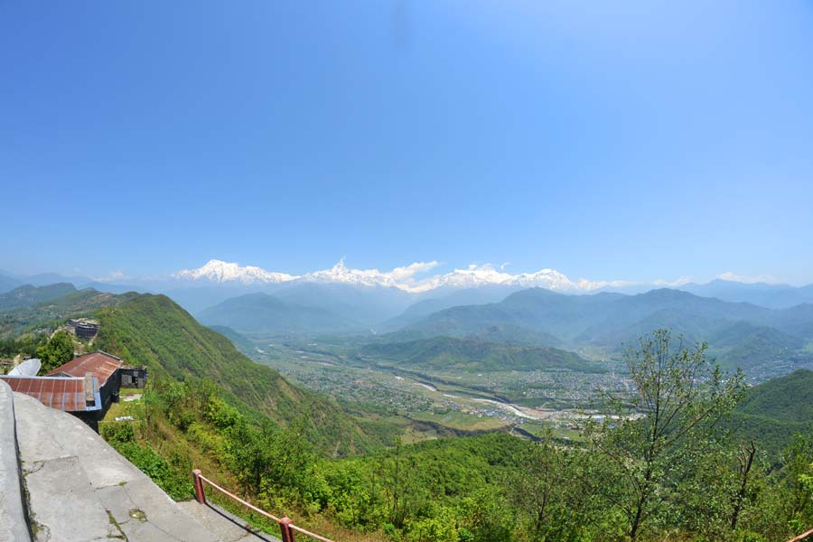 Sarangkot-pokharat-ausblick