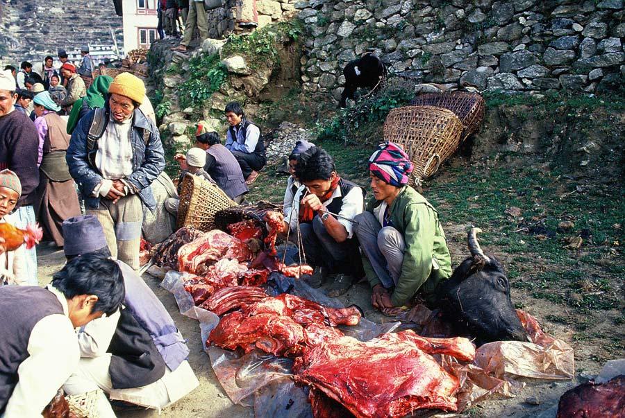 markt-fleisch-nepal