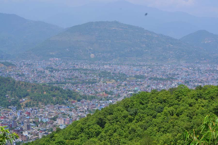 pokhara-von-oben stadt nepal reisebericht