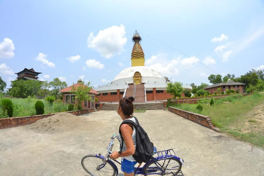 radfahren-lumbini tour tempel nepal