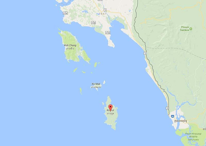 Thailand Inseln Karte.Koh Kood Die Wunderschöne Ruhige Insel Im Golf Von Thailand