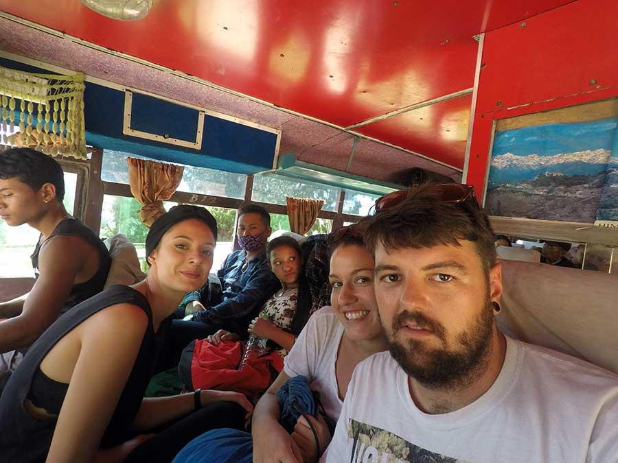 bus-anreise-Nagarkot-nepal