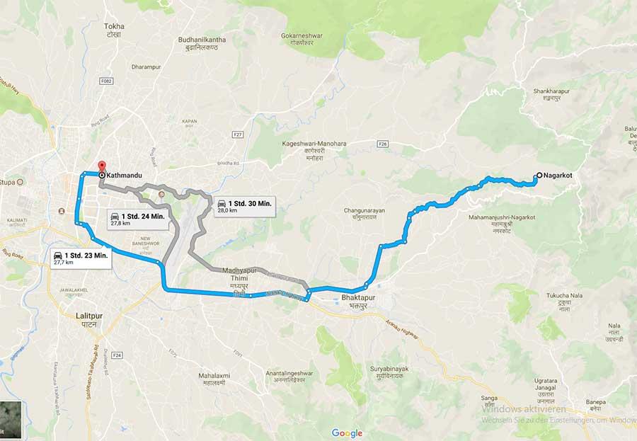 kathmandu-nagarkot-karte-wandern-berge-ausflug